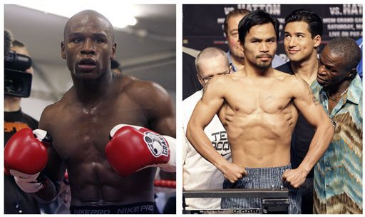 Alastair Grant and Rick Bowmer/AP File PhotosFloyd Mayweather Jr. will meet Manny Pacquiao on May 2