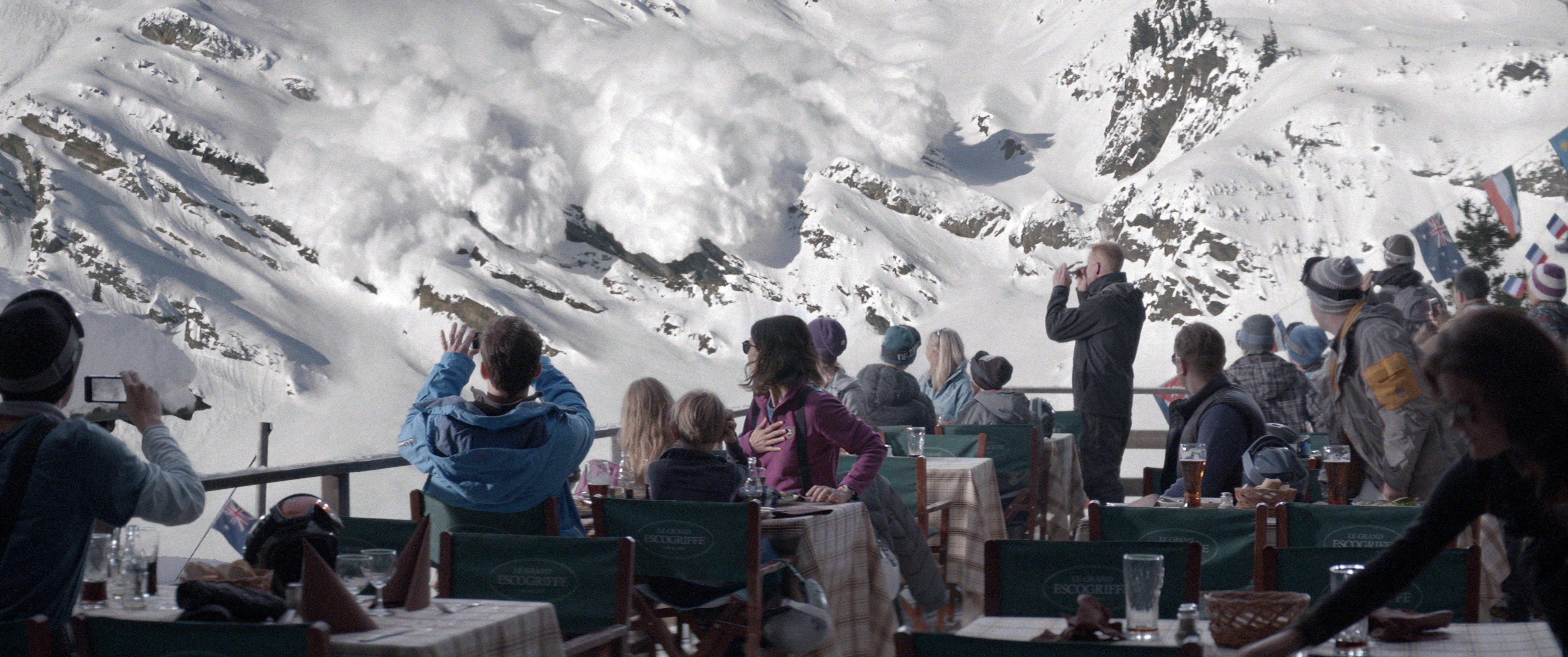 """COURTESY MAGNOLIA PICTURESA Swedish family on vacation at a ski resort goes through some dramatic experiences in """"Force Majeure"""