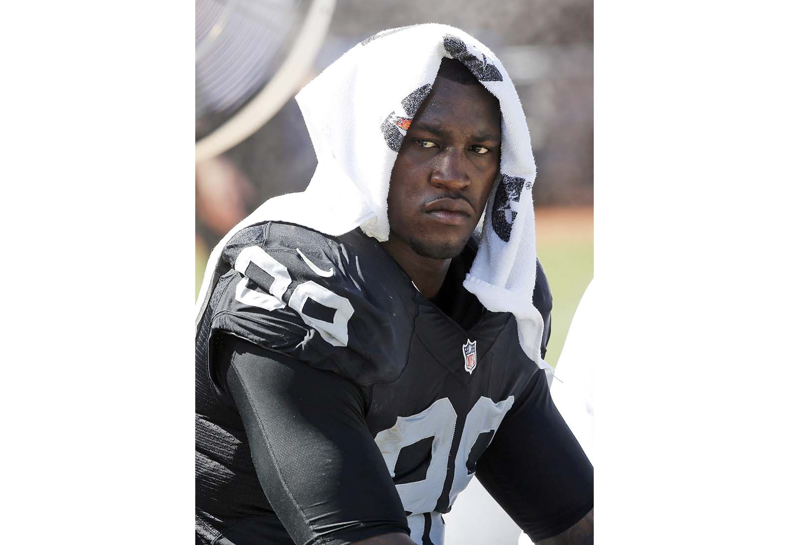 Oakland Raiders linebacker Aldon Smith was suspended Tuesday by the NFL for one calendar year because of violations of the league's substance-abuse policy. (AP Photo/Tony Avelar, File)