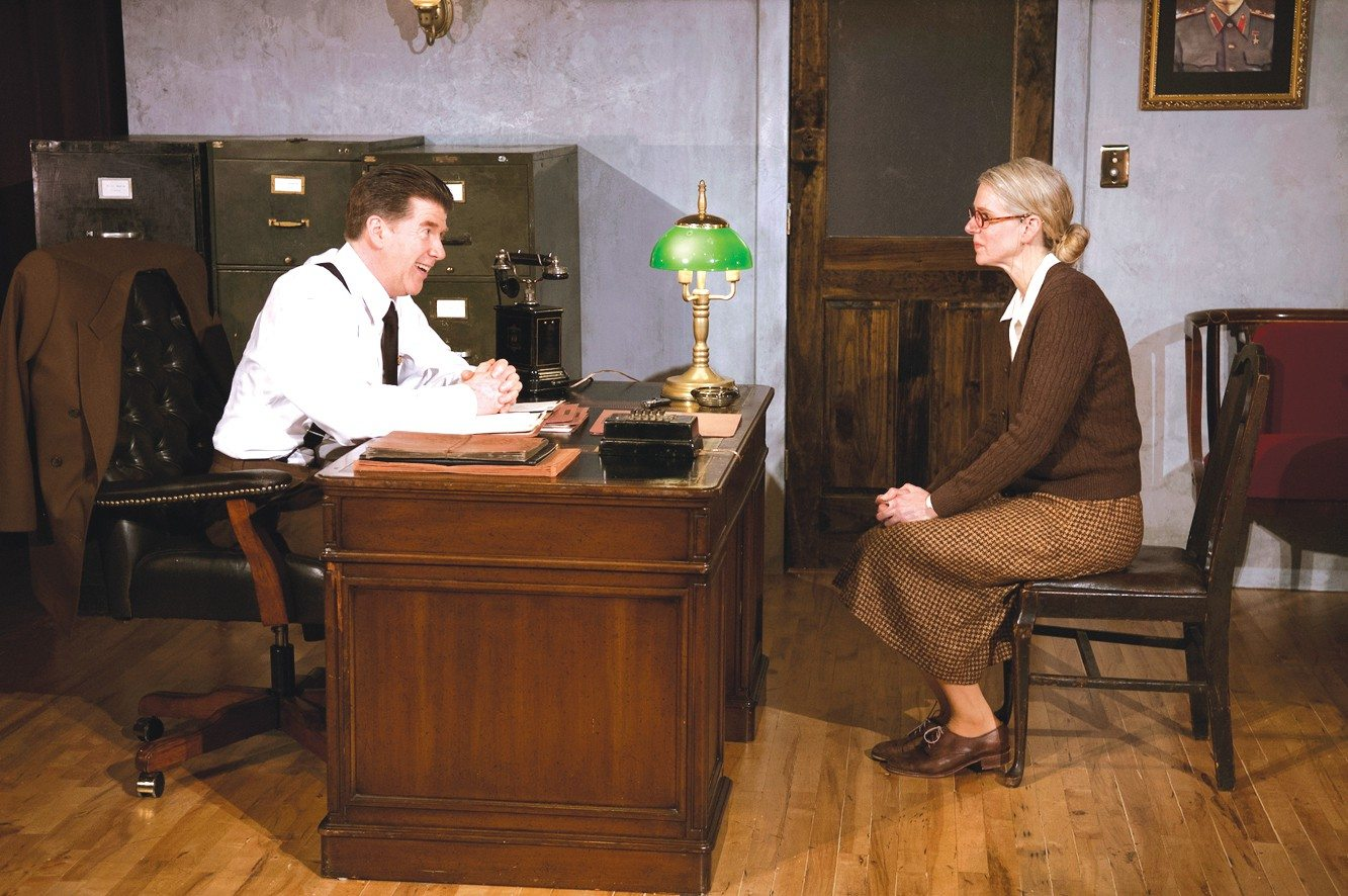 "COURTESY SARAH ROLANDMichael Ray Wisely and Beth Wilmurt appear in the Bay Area premiere of ""The Letters"" at Aurora Theatre Company."