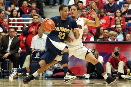 """Getty Images File PhotoCal Bears player Allen Crabbe said the shove he received from coach Mike Montgomery is """"water under the bridge"""" and the incident is being blown out of proportion."""