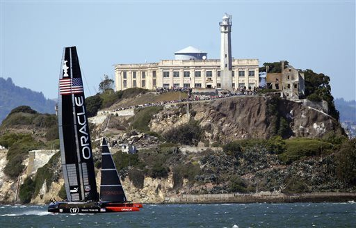 Marcio Jose Sanchez/2013 AP file photoSan Francisco Bay offered a spectacular backdrop for the America's Cup in 2013
