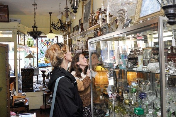 Godofredo Vasquez/Special to the S.F. ExaminerCosts: Cole Valley Antiques co-owner Angie Petitt-Taylor