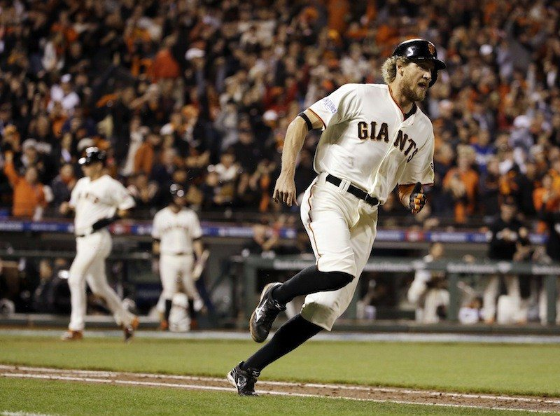 David J. Phillip/AP PhotoThe Giants rely on Hunter Pence for team balance.