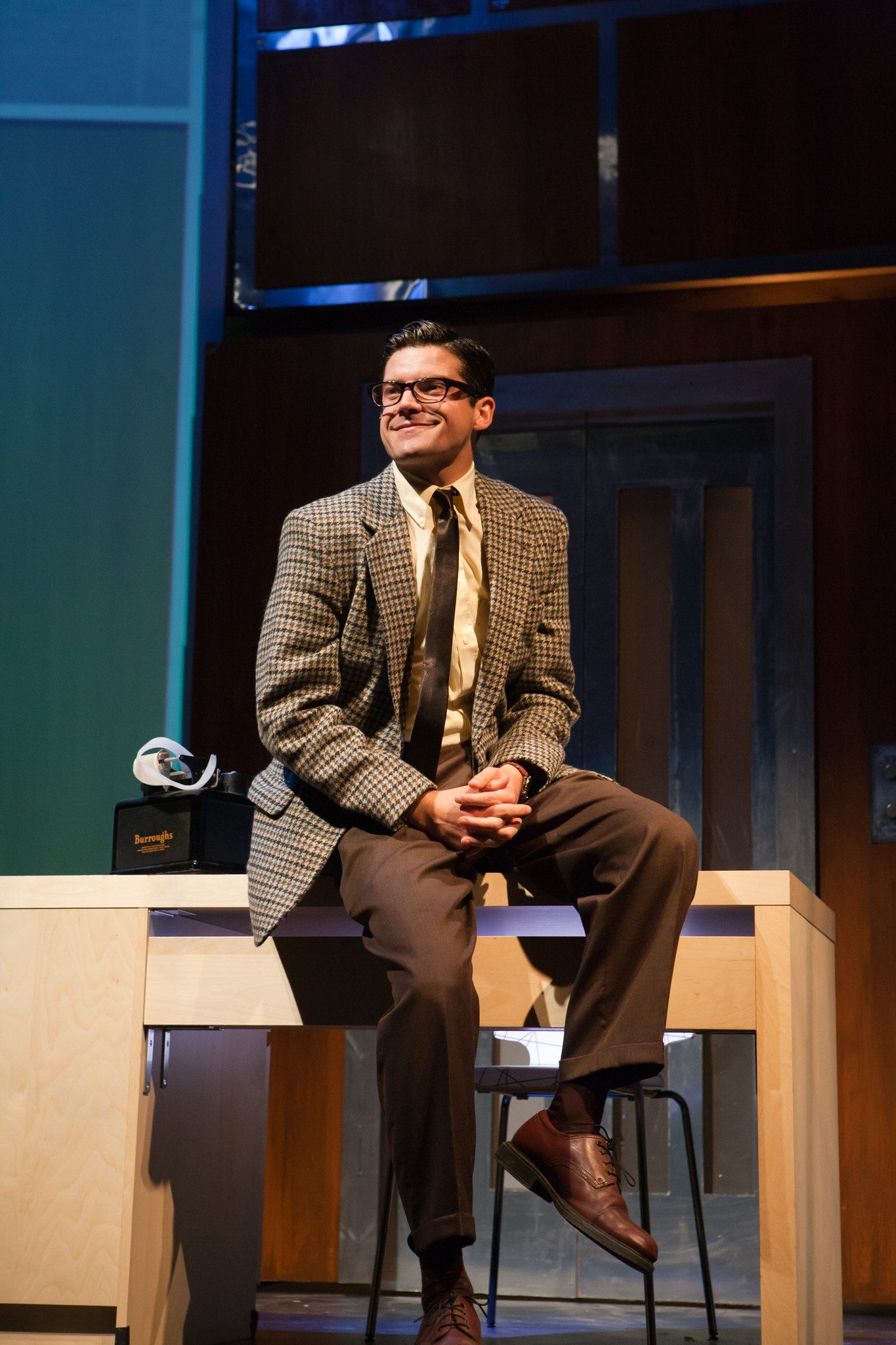"COURTESY JESSICA PALOPOLIJeffrey Brian Adams is excellent as junior executive with yearnings in San Francisco Playhouse's production of ""Promises"