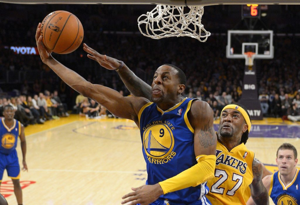 AP Photo/Mark J. TerrillThe Golden State Warriors are missing Andre Iguodala from their lineup.