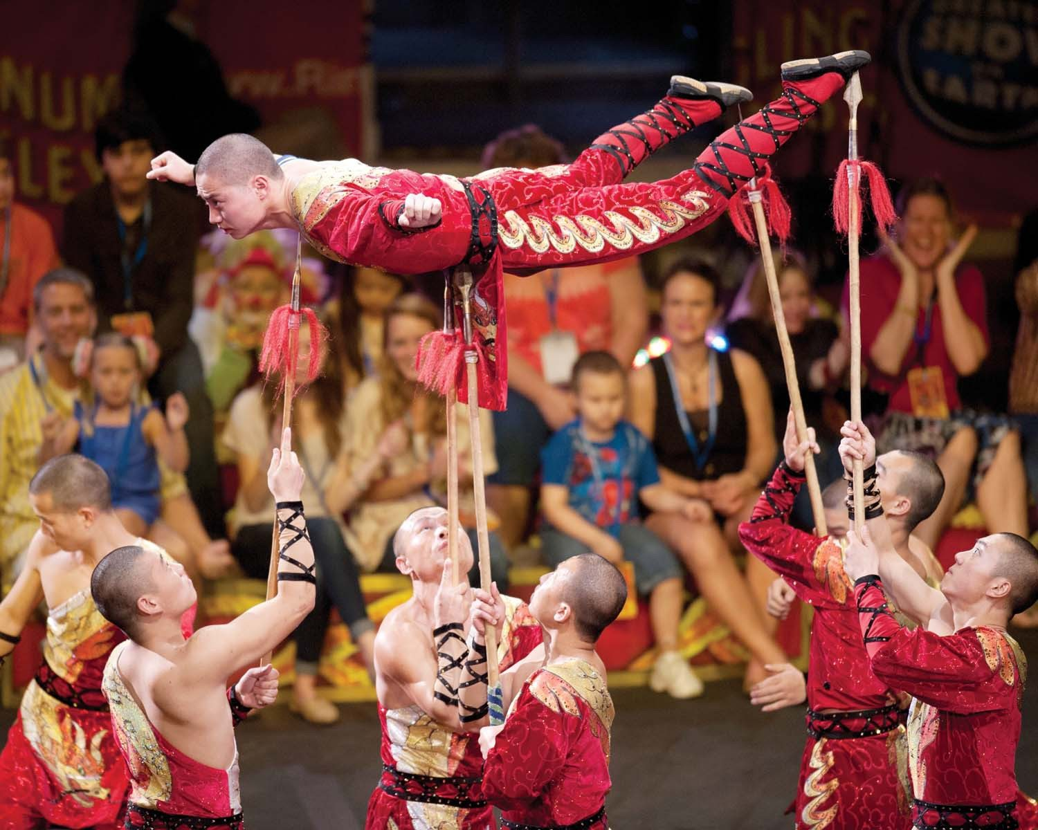 "Courtesy photoCircus time: Shaolin kung fu warriors are among the acts in Ringling Bros. and Barnum & Bailey presents ""Dragons"