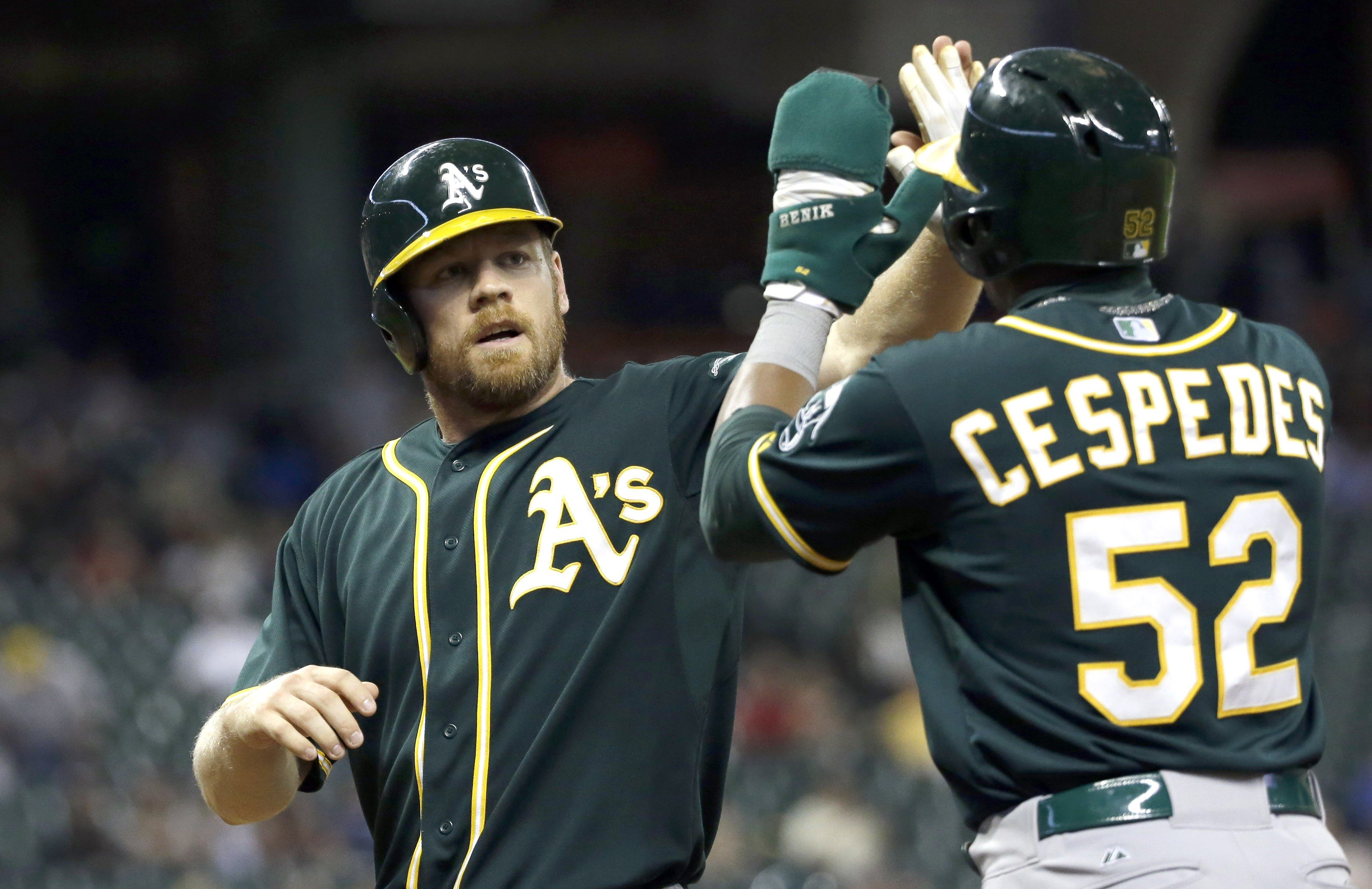 AP Photo/David J. PhillipOakland Athletics' Brandon Moss