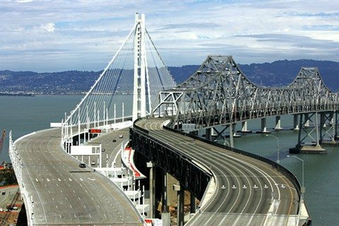 MIKE KOOZMIN/2013 S.F. EXAMINER FILE PHOTOBay Bridge officials said a suicide deterrent structure was not determined as a requirement at the time the new span design was approved.