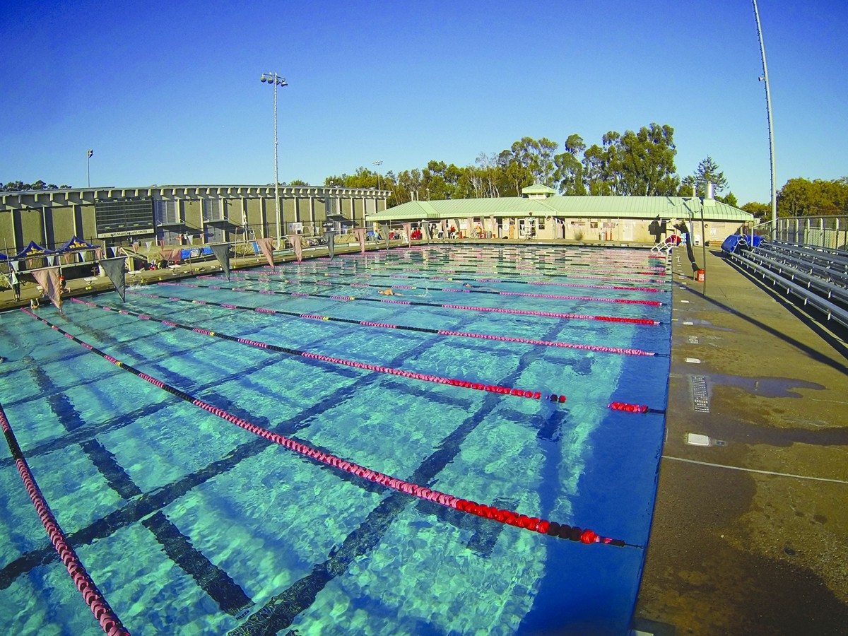 Courtesy Singer AssociatesThe public pool at Burlingame High School is at the center of a debate between the school district and the city over how much each should pay for pool operations.