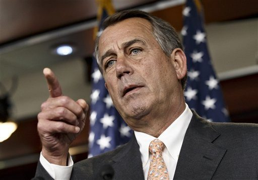 AP Photo/J. Scott ApplewhiteSpeaker of the House John Boehner is asked about the special select committee he has formed to investigate the deadly 2012 attack on the U.S. diplomatic post in Benghazi