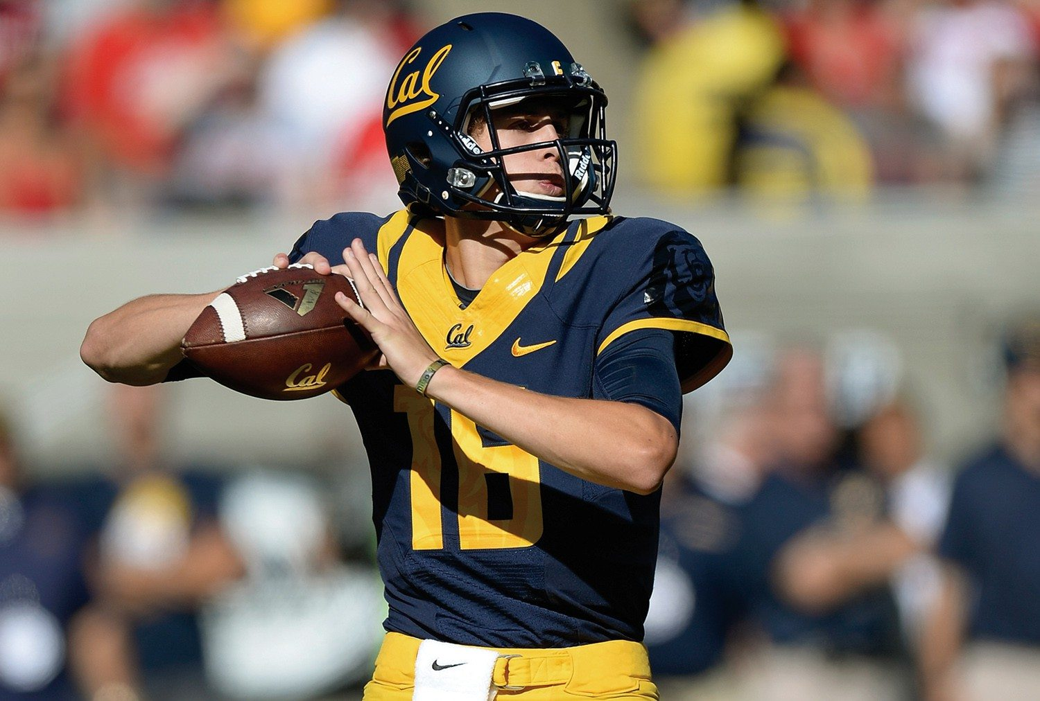 """Thearon W. Henderson/Getty Images file photoCal freshman quarterback Jared Goff has no reservations facing off with Oregon's Marcus Mariota on Saturday. """"Just a regular game"""