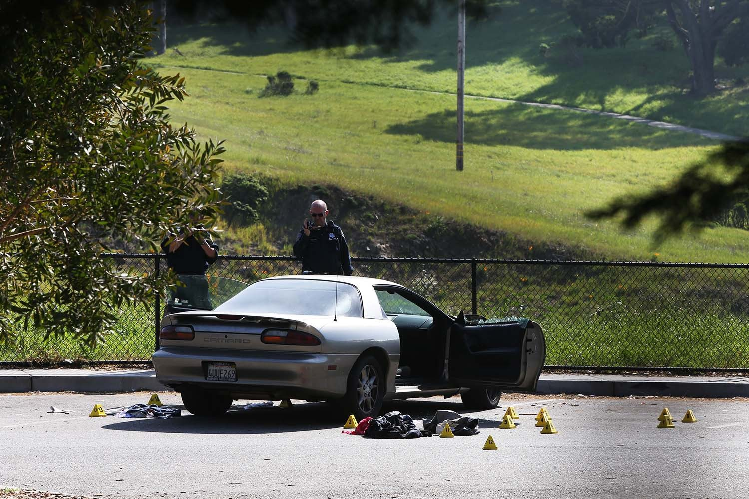 Mike Koozmin/S.F. Examiner file photoThe two men accused of shooting two teenagers as they sat in their car near Crocker Amazon Playground last month made their initial court appearance Thursday.