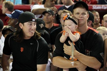 Getty Images File PhotoTim Lincecum and Matt Cain are only five months apart