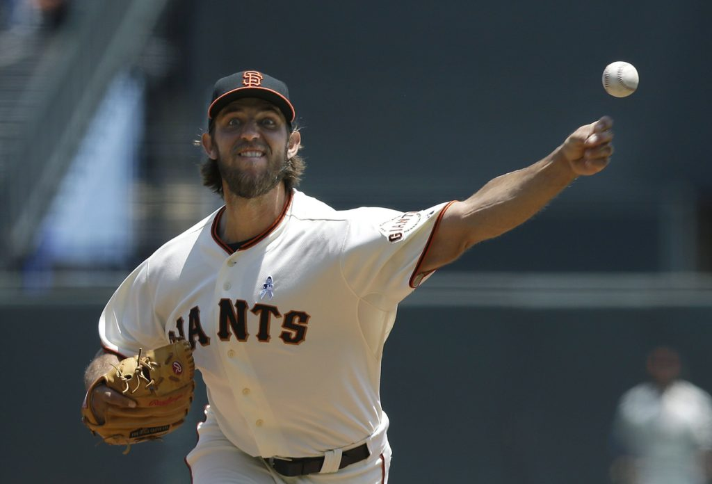 Jeff Chiu/APGiants left-hander Madison Bumgarner is a big reason the Giants have the best record in baseball.