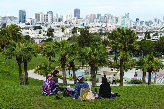 Photo by Mike KoozminMission Dolores Park