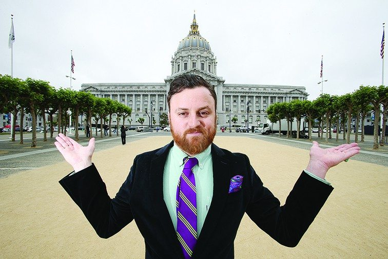 Mike Koozmin/The S.F. ExaminerWriter extraordinaire and political newcomer Stuart Schuffman has thrown his hat into the ring as a mayoral candidate in the November election
