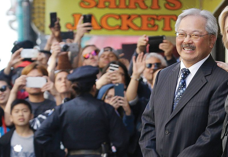 Mayor Ed Lee is facing little opposition in his reelection campaign, allowing him to sail to another four-year term. (Jeff Chiu/AP)