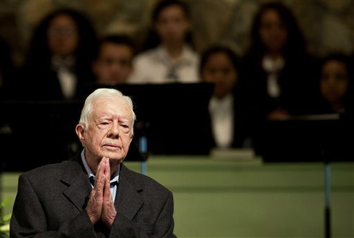 Former President Jimmy Carter said Sunday that no cancer was detected in his latest scan. (AP Photo/David Goldman, File)