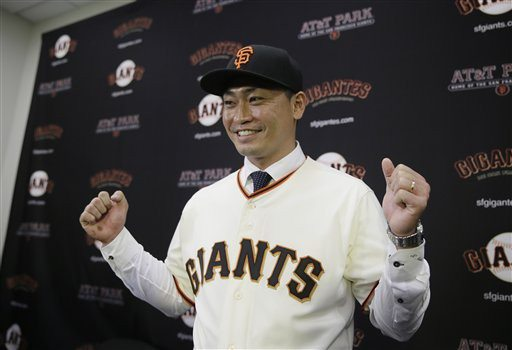 Eric Risberg/AP PhotoOutfielder Nori Aoki brings more than just a big personality and sense of humor to the Giants.