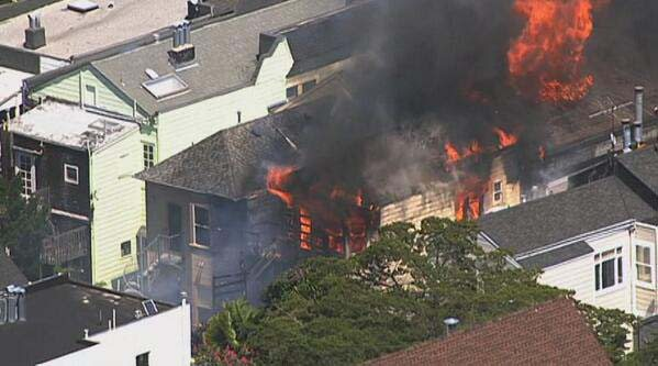 twitter.com/KTVUSan Francisco firefighters are battling this blaze in Duboce Triangle.