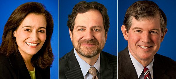 Geisha Williams, Tony Earley and Nick Stavropoulos will all have new roles at PG&E. (Photo: PG&E/Twitter)