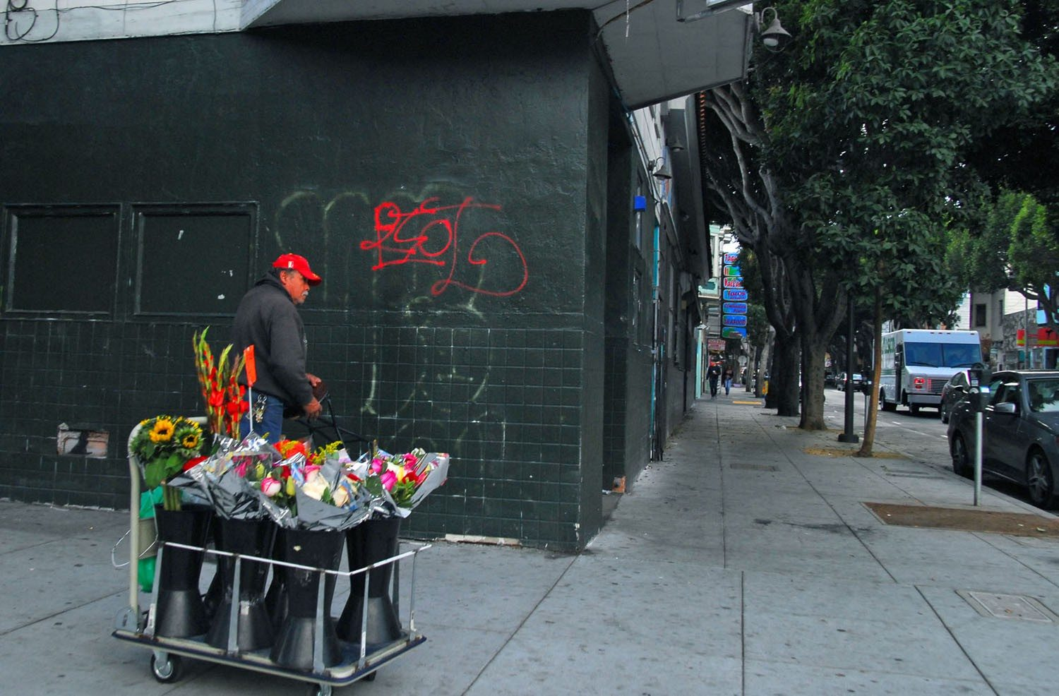 EVAN DUCHARME/SPECIAL TO THE  S.F. EXAMINERLondon Breed is proposing that vandals should pay to clean up their marks.