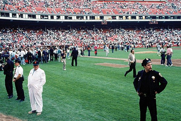 Getty Images File PhotoShortly before Game 3 of the 1989 World Series between the Giants and the Oakland A's started the infamous 6.9-magnitude Loma Prieta earthquake struck the Bay Area