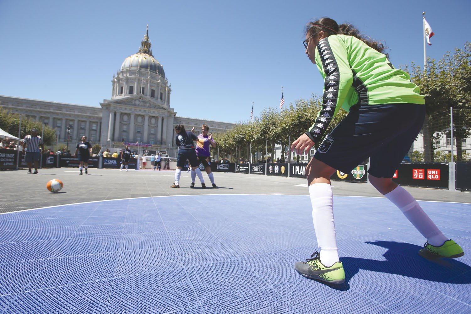 mike koozmin/the s.f. examinerStreet Soccer USA was in The City on Friday