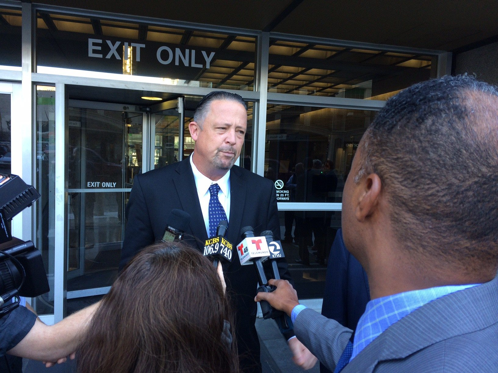 Jonah Owen Lamb/S.F. Examiner file photoIan Furminger speaks to reporters after his sentencing on corruption charges in February.