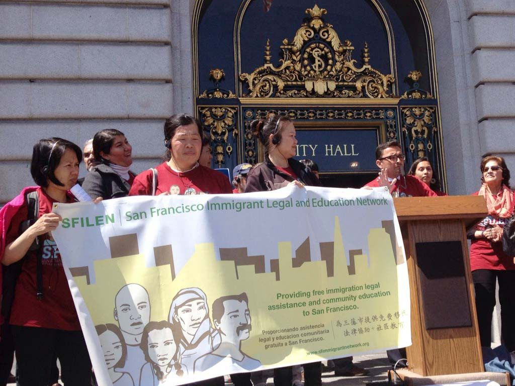 Jessica Kwong/The S.F. ExaminerDavid Campos calls for support for his resolution to designate April as Immigrant Family Month.