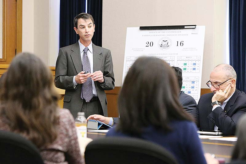 The Capital Planning Committee meets Monday in City Hall, where it voted to approve a new jail in San Francisco. The facility now goes to the Board of Supervisors for a vote. (Mike Koozmin/S.F. Examiner)
