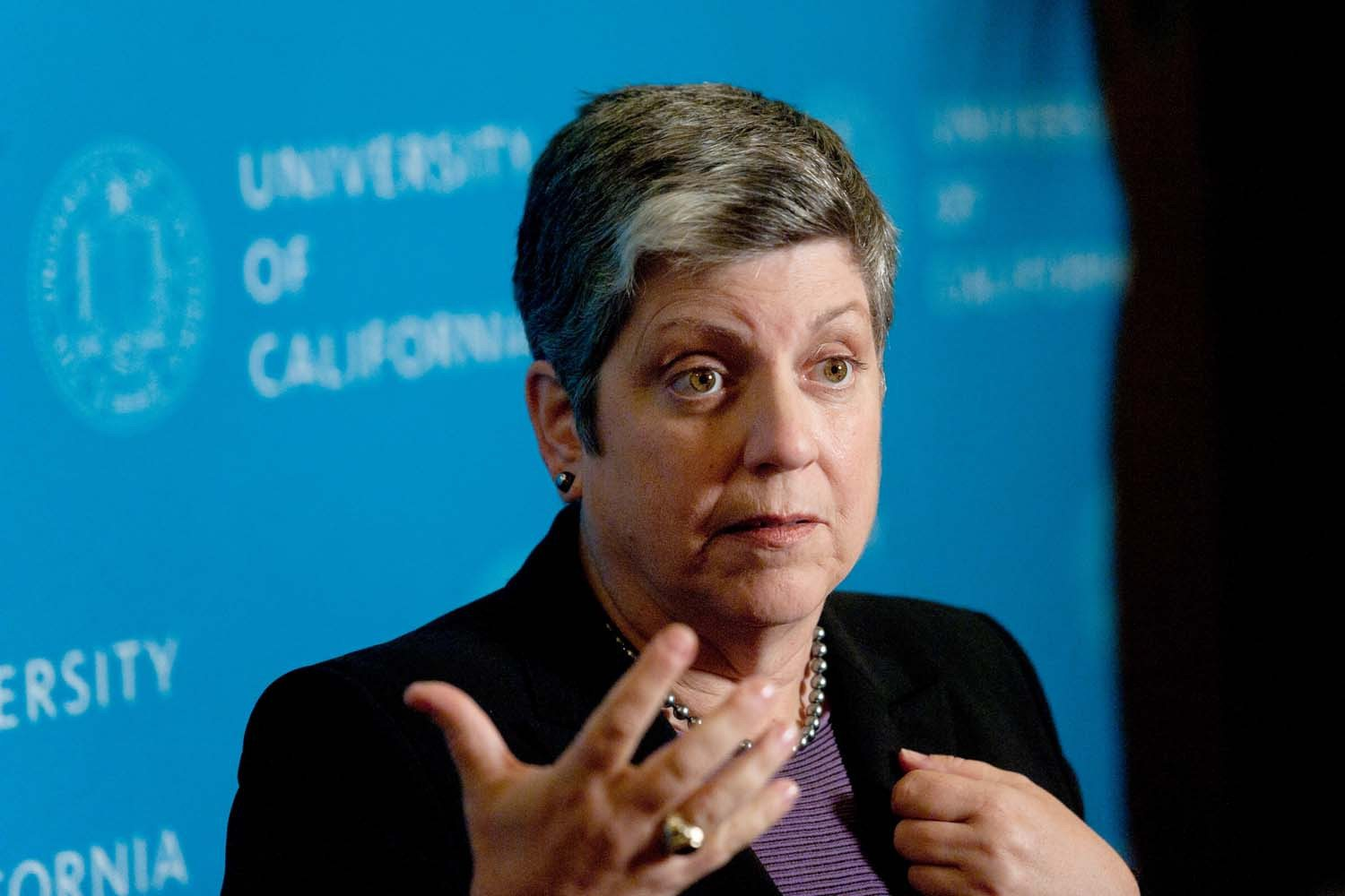 Noah Berger/AP file photoUC President Janet Napolitano proposed a tuition freeze during a Board of Regents meeting today.