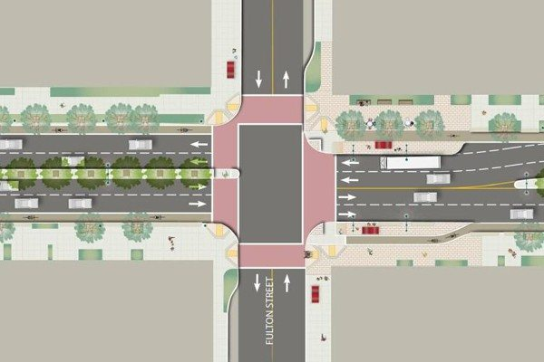 Courtesy RenderingDown the road: The Masonic Avenue overhaul is projected to cost $18  million and take about four to five years to complete.