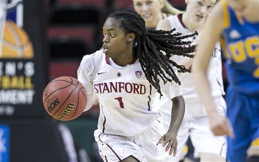 Stephen Brashear/AP file photoLili Thompson and Stanford were seeded fourth in their regional and will host the first two rounds of the NCAA Tournament.