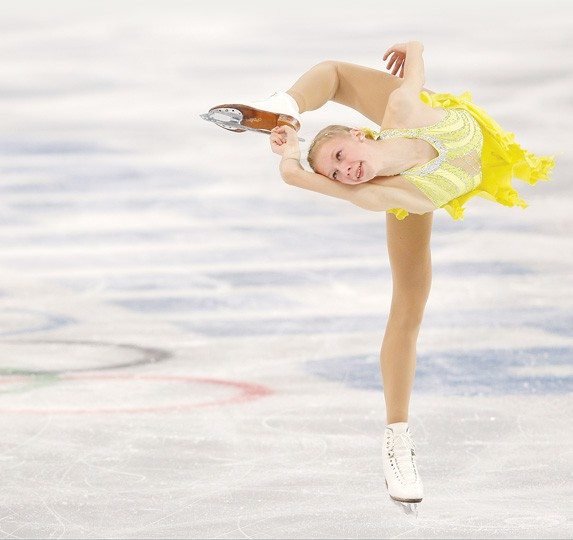 adim Ghirda/APSan Jose teenager Polina Edmunds competes in the women's short program figure skating competition.