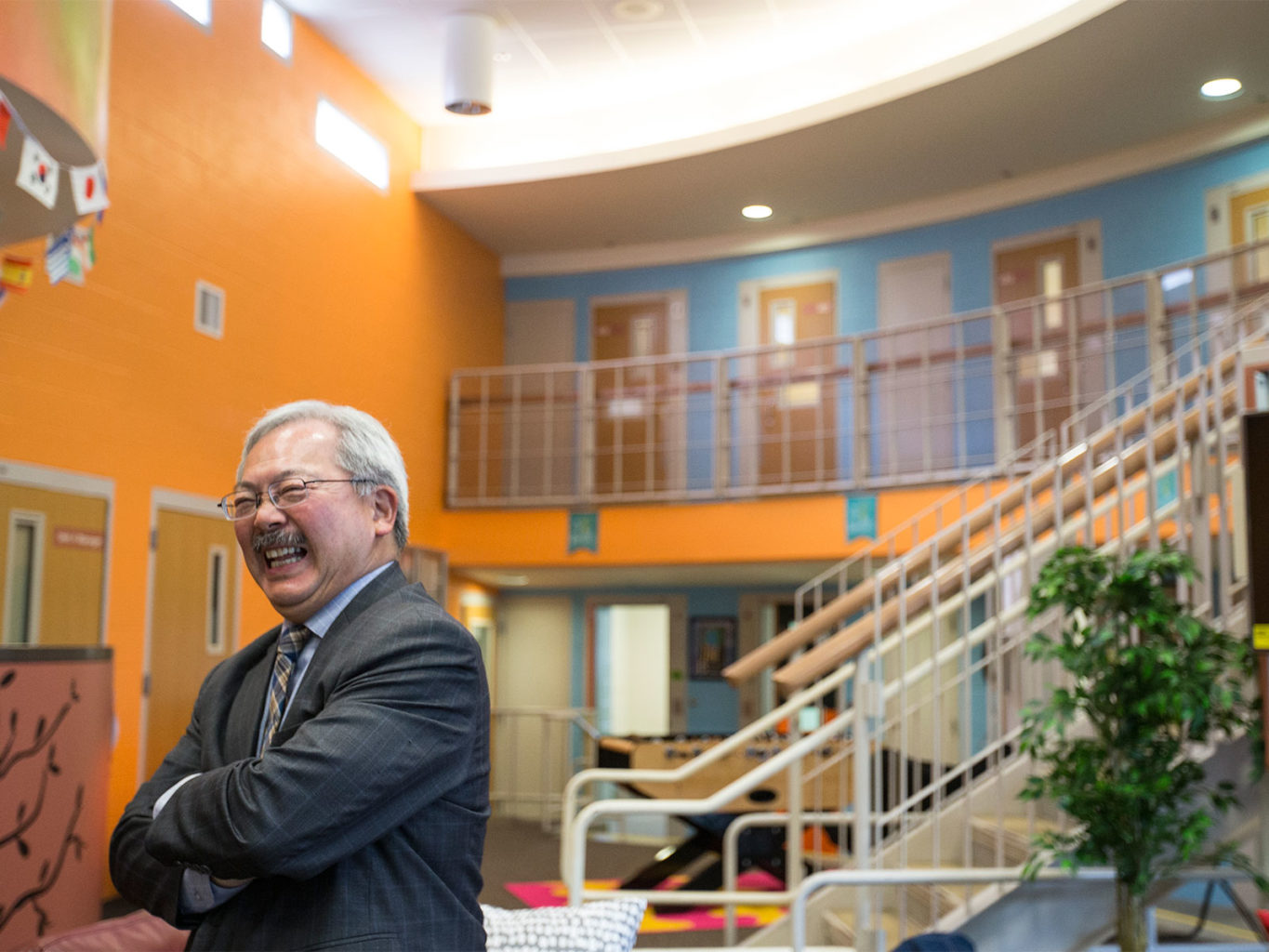 Mayor Ed Lee smiles during the grand opening of the Merit Center at San Francisco's Juvenille Justice Center on Nov. 15, 2016. (Jessica Christian/S.F. Examiner)