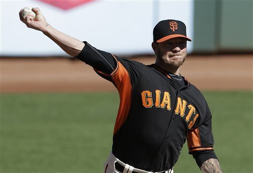 Jeff Chiu/AP file photoThe Giants will send Jake Peavy to the mound for Game 2 of the NL Championship Series against the Cardinals on Sunday.