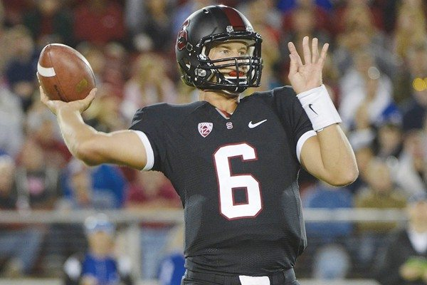 Courtesy PhotoPlaying the game: Stanford coach David Shaw doesn't want QB Josh Nunes to directly compete with USC signal-caller and Heisman Trophy candidate Matt Barkley.