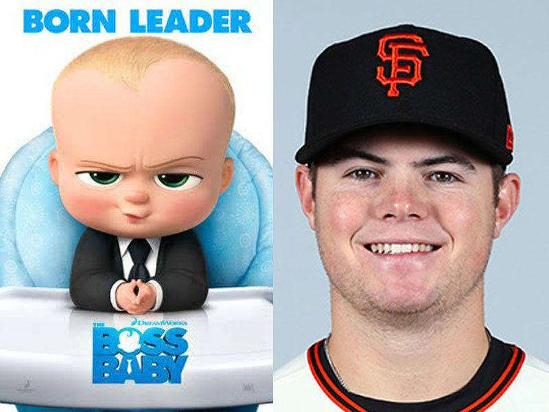 See a resemblance? Giants fans on Twitter apparently do. (Courtesy Boss Baby/SF Giants)