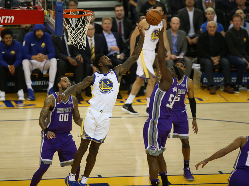 The Warriors are experimenting with rotations and will play Jordan Bell more in the future. (Mira Laing/Special to S.F. Examiner)
