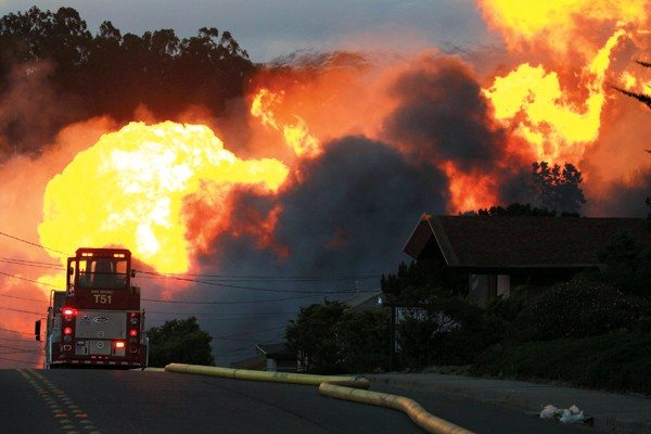 Getty Images File PhotoDeadly toll: An NTSB report conducted after the deadly 2010 San Bruno pipe blast laid blame on PG&E.