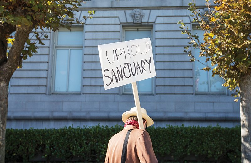 A bill ciculating in the House of Representatives would harshly crack down on sanctuary cities and immigrants. (Jessica Christian/2016 S.F. Examiner)