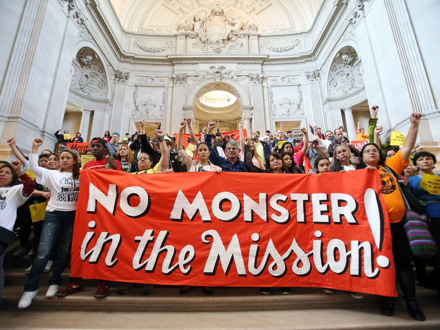 Progressives protesting against building in the Mission are not protesting density. They're protesting displacement. (Mike Koozmin/S.F. Examiner)