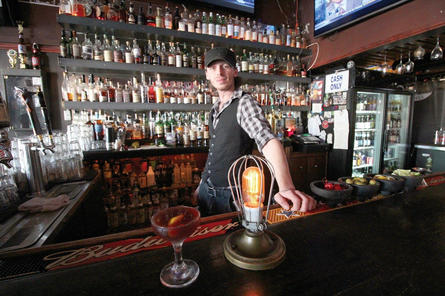 Erica Marquez/Special to the S.F. examinerBroken Record bartender Brett Davis can help you pick out a top shot of whiskey