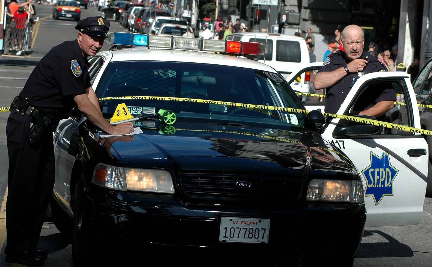 S.F. Examiner file photoSan Francisco police arrested a man and charged him with attempted homicide after allegedly beating a man who urinated on a carpet.