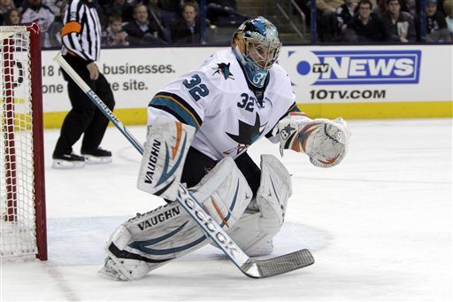Jay LaPrete/APThe Sharks signed goalie Alex Stalock to a two-year
