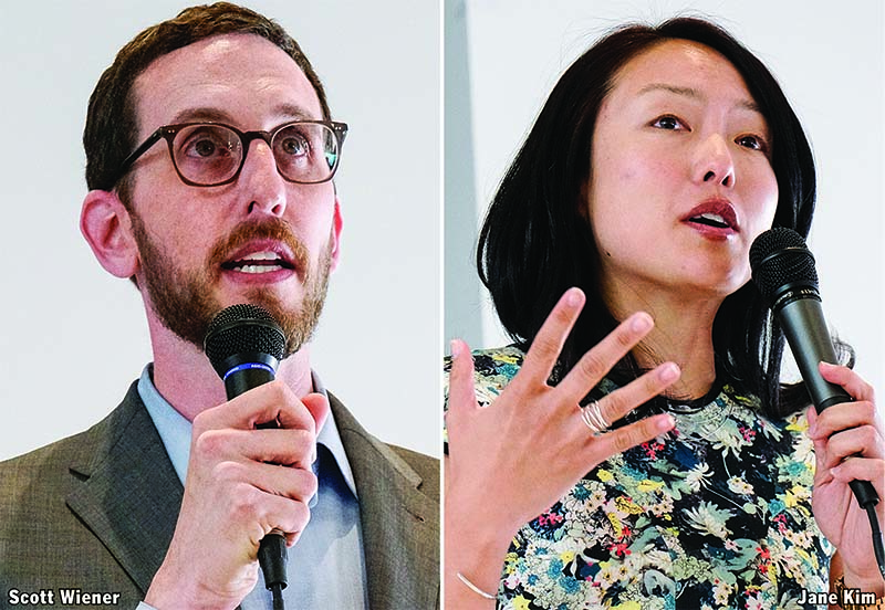 Supervisors Scott Wiener and Jane Kim are both vying for the District 11 state Senate seat. (Yesica Prado/Special to S.F. Examiner)