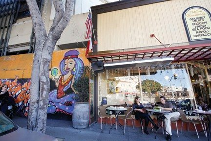Anna Latino/Special to the S.F. ExaminerPiazza Pellegrini's owner says subway work next door could cost his North Beach business $500