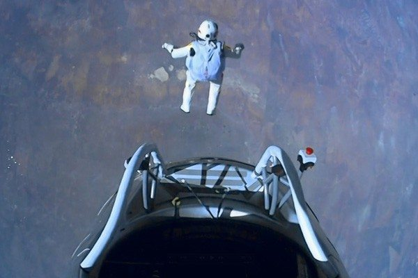 AP Photo/Red Bull StratosThis image made from video